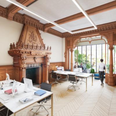 Un hôtel particulier entièrement rénové à Paris 17ème